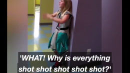 girl freakout vaccines