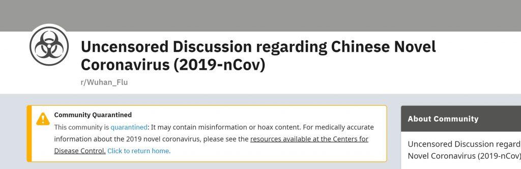 coronavirus and censorship